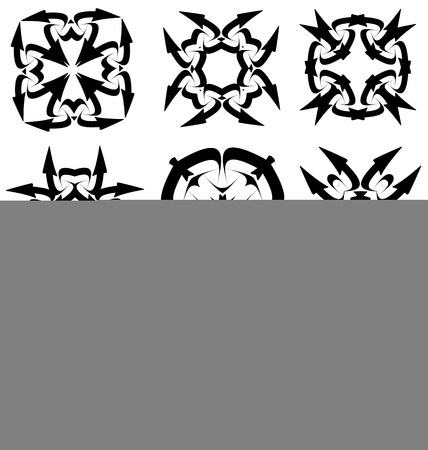 creative design: Calligraphic decorative elements for creative design tasks Stock Photo