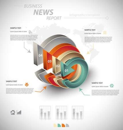 interactive: Business infographic template for interactive data communication