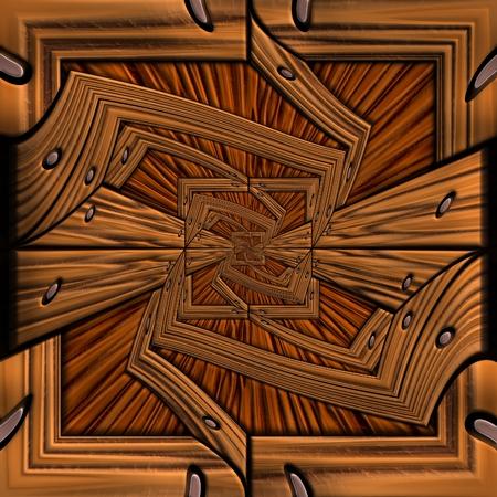 polished: Background seamless tile with embossed mosaic pattern on polished wood Stock Photo