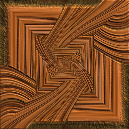Background seamless tile with embossed mosaic pattern on polished wood Stock Photo