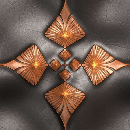 tuile de fond: Luxury background  tile with embossed pattern on leather