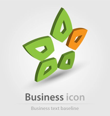 logo marketing: Originally created business icon for creative design tasks Illustration
