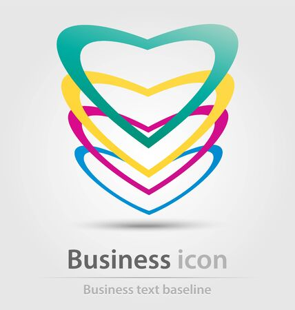 logo marketing: Originally created business icon for creative design tasks Illustration