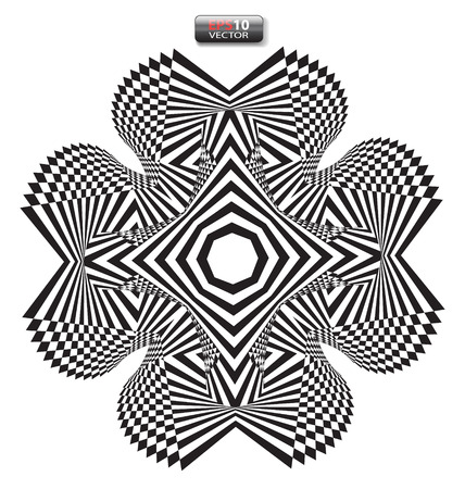 ilusion optica: Optical illusion abstract flower element