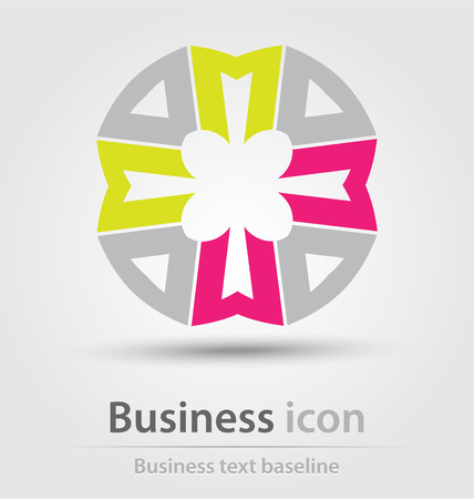 logo marketing: Originally created business icon for creative design tasks Stock Photo