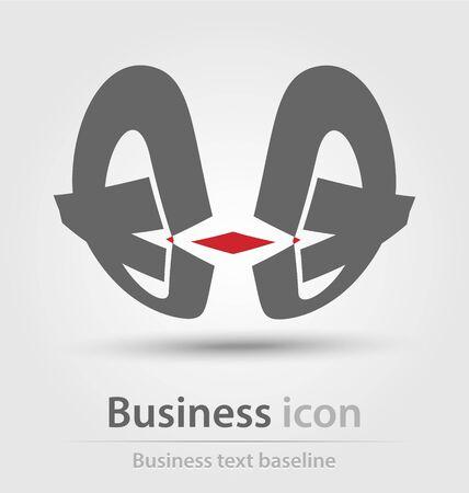logos de empresas: Originally created business icon for creative design tasks Foto de archivo