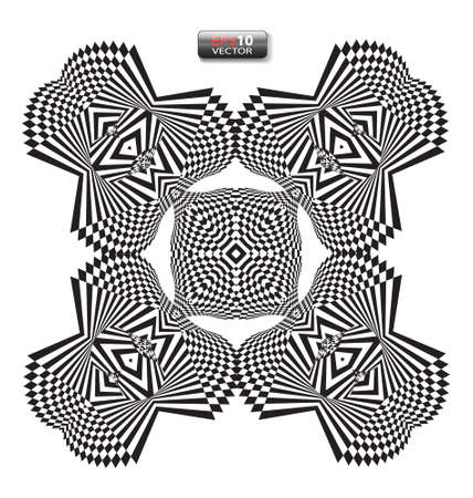 optical illusion: Optical illusion abstract flower element
