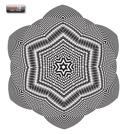 optical: Optical illusion abstract flower element