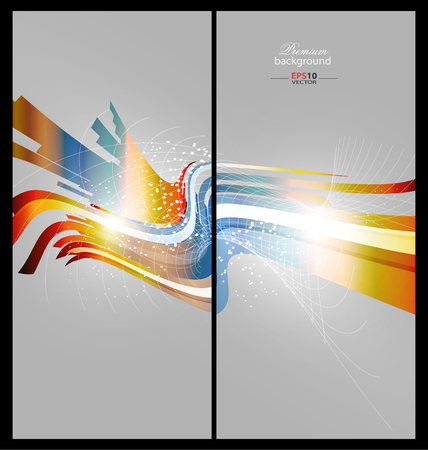 creative design: Colorful abstract technology background for creative design Stock Photo