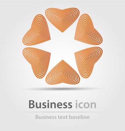logo marketing: Originally created business icon for creative design tasks Stock Photo