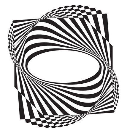 optical illusion: Optical illusion abstract flower element for creative design