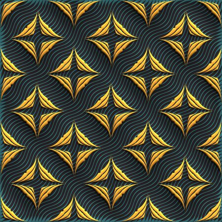 Plastic achtergrond tegels met reliëf abstract ornament
