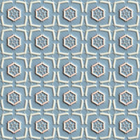 fresco: Plastic background tiles for creative design Stock Photo