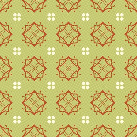 paving tiles: Seamless ornament pattern vector tile for multipurpose use in design Stock Photo