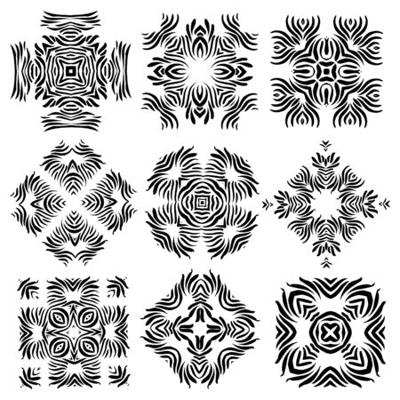calligraphic design: Calligraphic decorative elements for creative design tasks Illustration