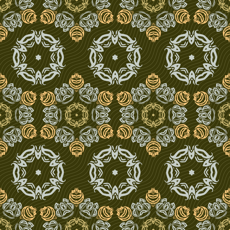 pave: Seamless ornament pattern vector tile for multipurpose use in design Stock Photo
