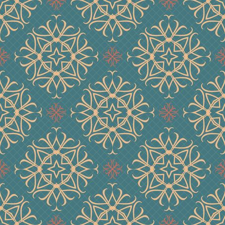 seamless tile: Seamless ornament pattern vector tile for multipurpose use in design Illustration