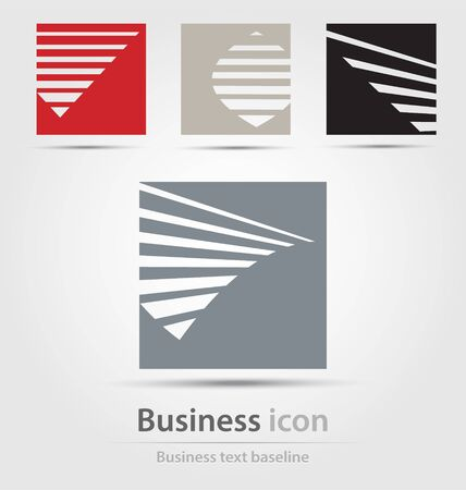 corporations: Originally created business icon collection for creative design tasks