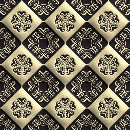 pave: Plastic background tiles with embossed abstract ornament