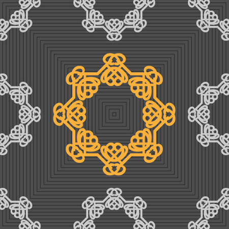 able: Seamless ornament pattern vector tile for multipurpose use in design Stock Photo