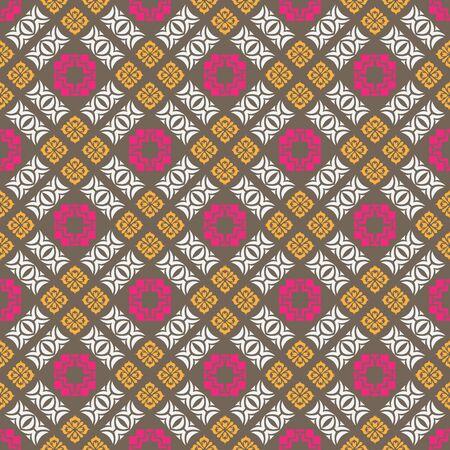 paving tiles: Seamless ornament pattern vector tile for multipurpose use in design Illustration
