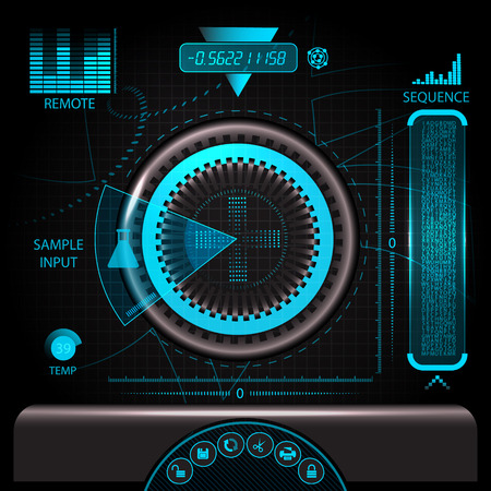 HUD touch screen panel for creative design