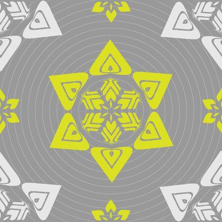 fresco: Seamless ornament pattern vector tile for multipurpose use in design Illustration