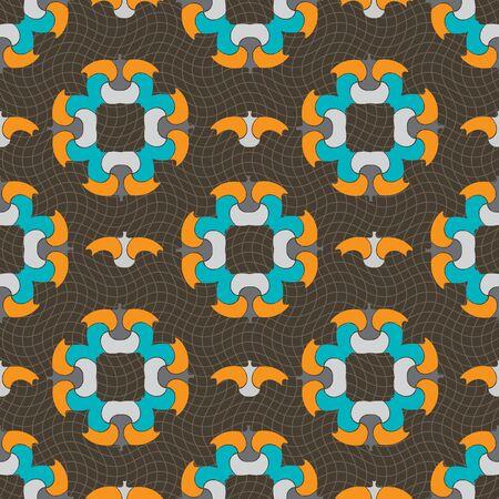 fresco: Seamless ornament pattern vector tile for multipurpose use in design Stock Photo