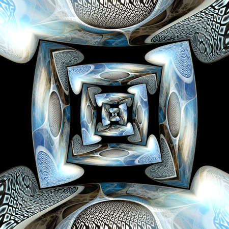 immersed: Abstract glossy ornament with immersed fractal