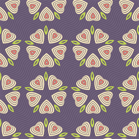 fresco: Colorful ornament pattern vector tile for multipurpose use in design