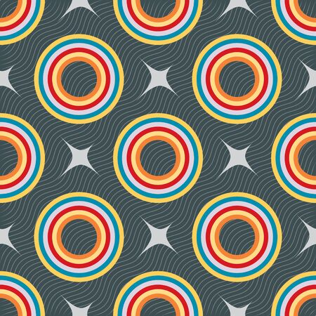 pave: Colorful ornament pattern vector tile for multipurpose use in design