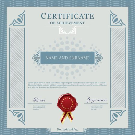 layout: Certificate template design layout