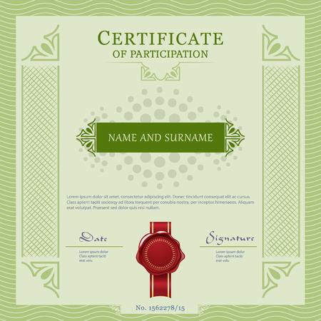 vecter: Certificate vecter template design layout Stock Photo