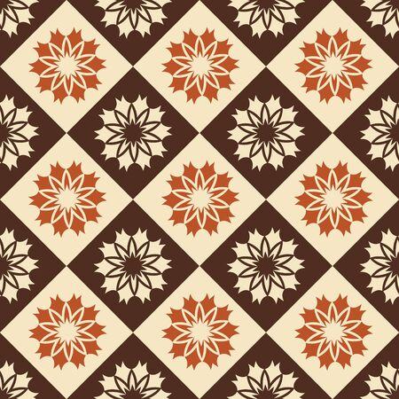 paving tiles: Seamless ornament pattern tile for multipurpose use in design