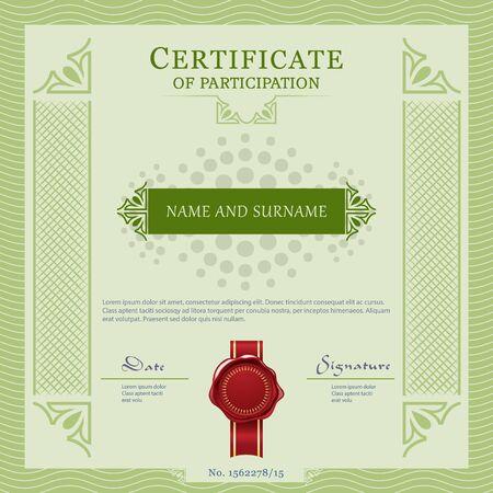 vecter: Certificate vecter template design layout Illustration