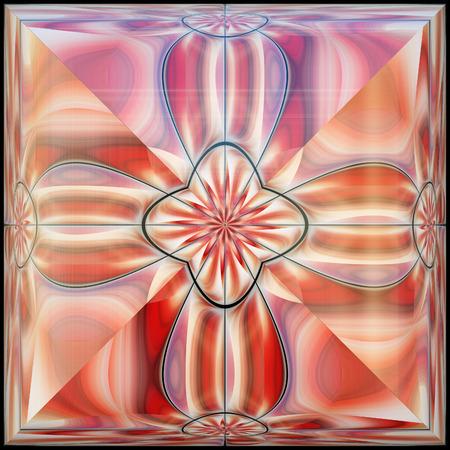 embellishment: Ornament colorful plastic tile with embellishment