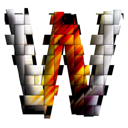 Alphabet uppercase letter in weave design style