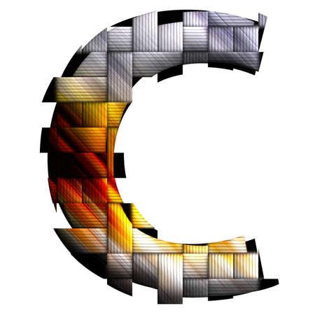uppercase: Alphabet uppercase letter in weave design style Stock Photo