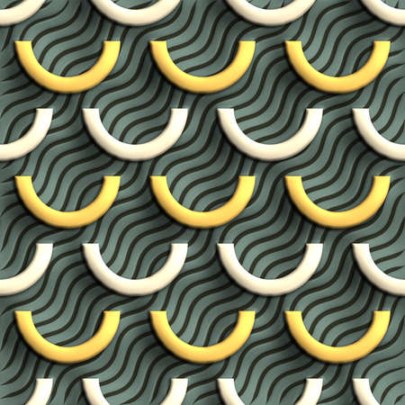 embossed: Plastic background tiles with embossed abstract ornament