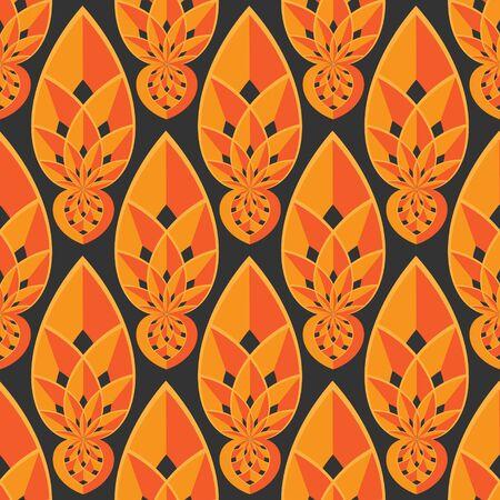 Seamless ornament pattern vector tile for multipurpose use in design Illustration