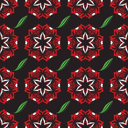 Seamless ornament pattern vector tile for multipurpose use in design Illusztráció