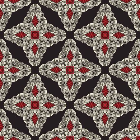 inlay: Seamless ornament pattern vector tile for multipurpose use in design Illustration