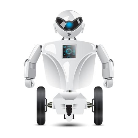 humanoid: Humanoid robot on wheels