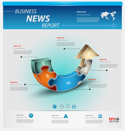 interactive: Business infographic template pack for interactive data communication