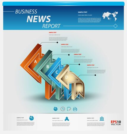 Business infographic template pack for interactive data communication