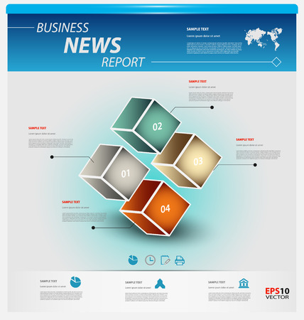 factor: Business infographic template pack for interactive data communication
