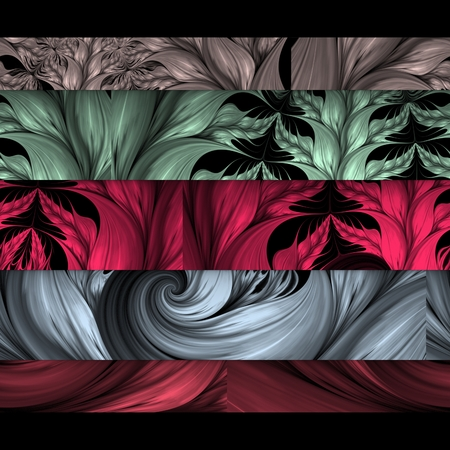Fractal art colorful strips background template