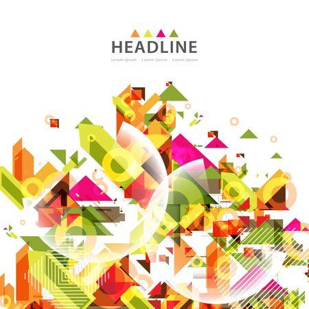 Brochure header layout background template