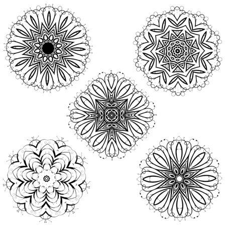 calligraphic design: Calligraphic decorative elements for creative design tasks Stock Photo