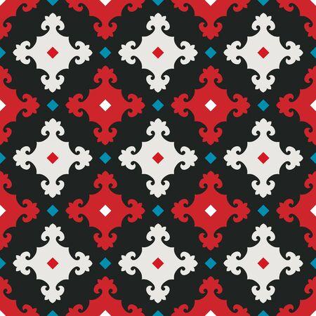 fresco: Ornament pattern vector tile for multipurpose use in design Stock Photo